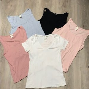 H&M basics tees bundle.